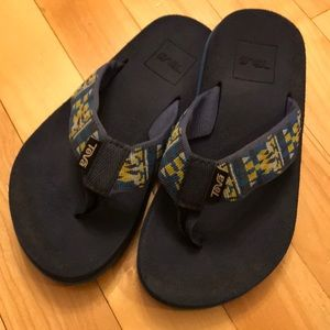 Teva Mush flip flops little boys 12